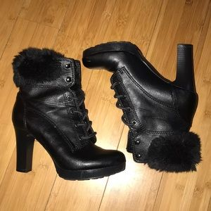 a.n.a boots with faux fur